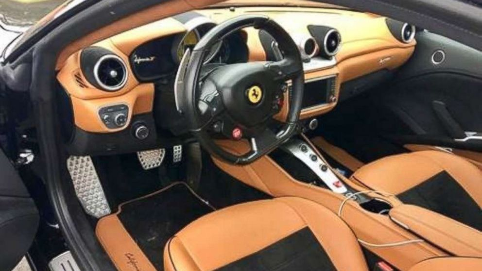 Hilburn Hunkins, from Kissimmee, Fla., was pulled over driving this stolen $250,000 Ferrari on Dec. 28, 2017.