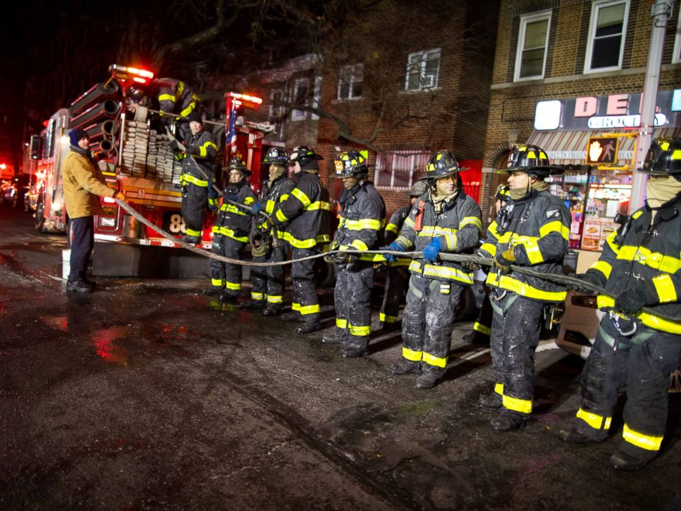 Firefighters battled freezing temperatures, as well as the flames, in a fire that killed at least 12 people in the Bronx on Dec. 28, 2017.