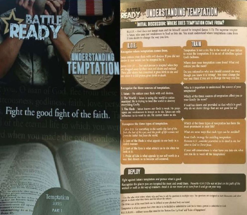 The couple says they were sent this religious pamphlet instead of their wedding program by Vistaprint.