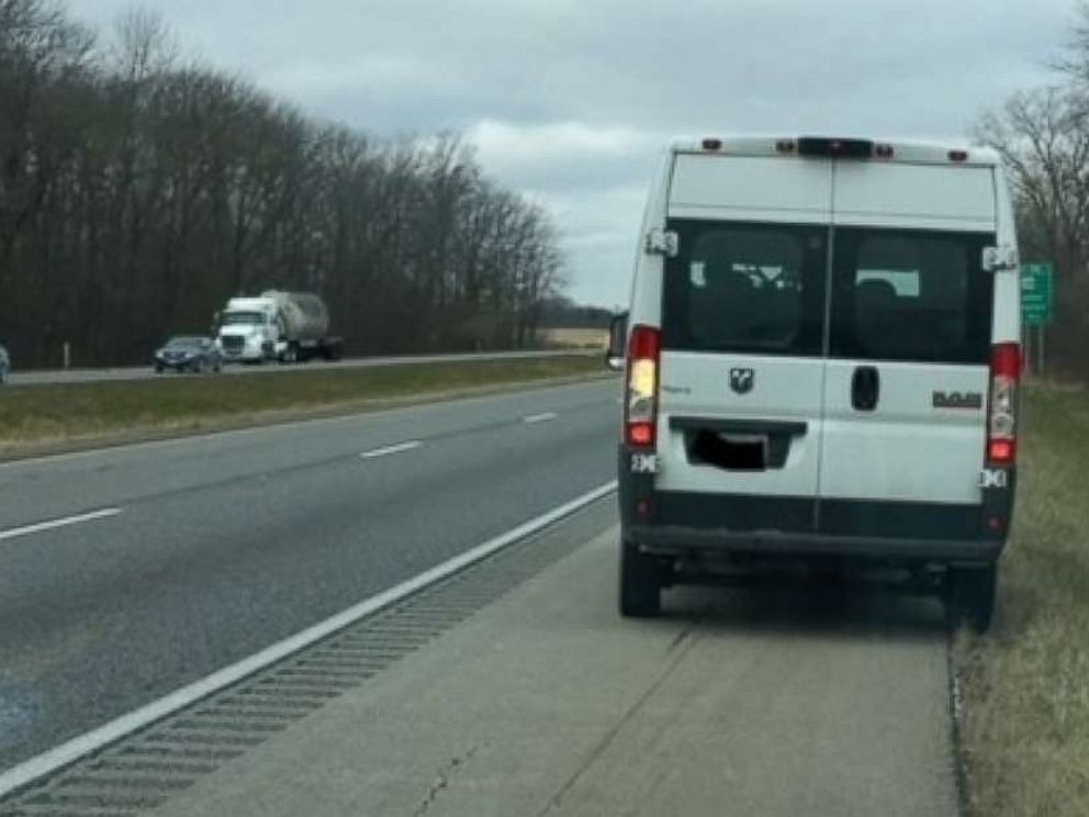 Christopher Hansen had a very special Christmas passenger in his van Thursday morning near Indianapolis.