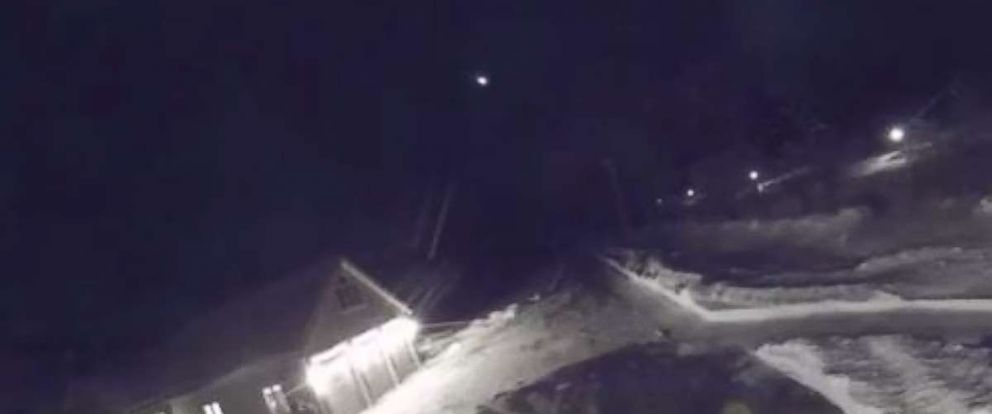 A bright light was spotted streaking over the sky in Litchfield, Maine on Tuesday, Dec. 26, 2017.