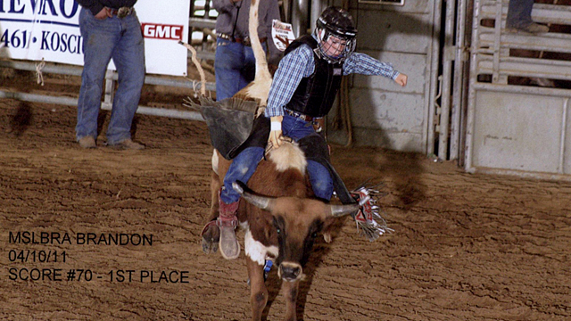 PHOTO: Lane Huszar is one of the youngest bull riders in the country.
