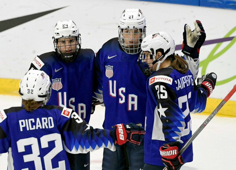 US women's hockey players dominate world competitions, but