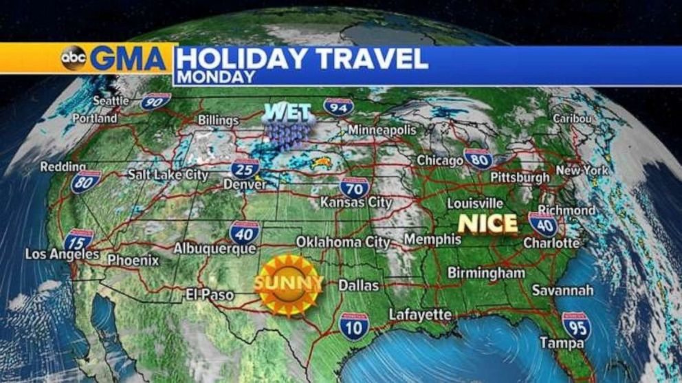 PHOTO: Much of the country will be very nice on Easter Sunday into Monday.