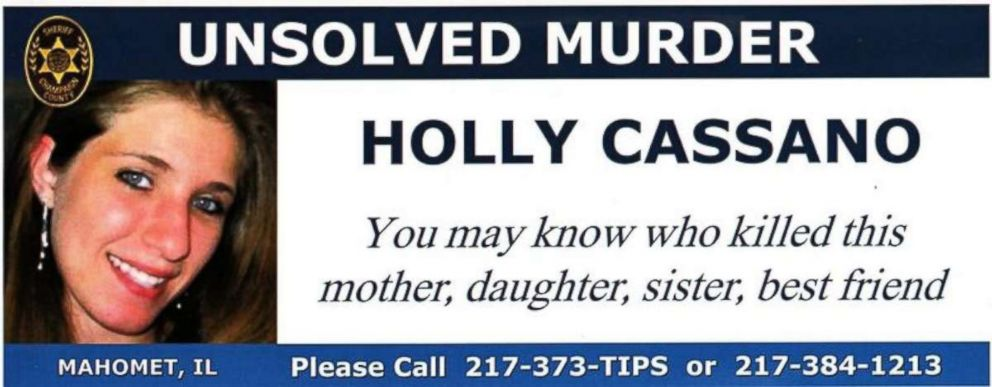 A police poster showing murder victim Holly Cassano.