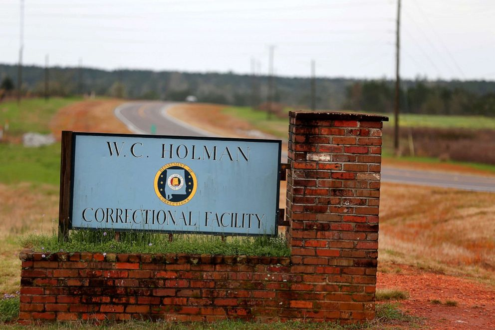 PHOTO: The sign to The William C. Holman Correctional Facility in Atmore, Ala., is displayed, March 16, 2016.