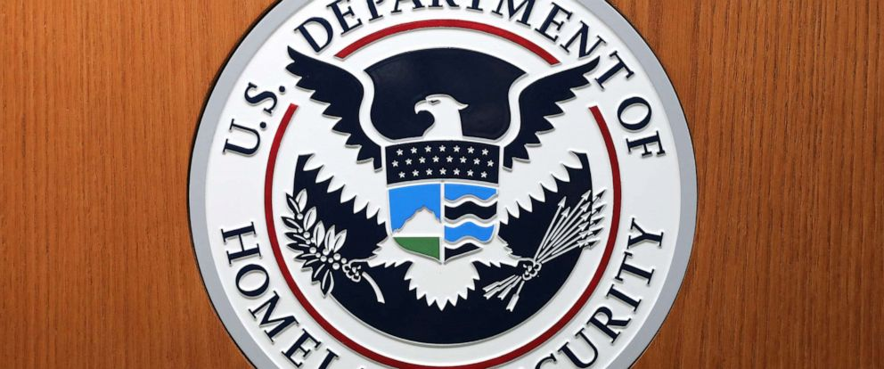 PHOTO: In this August 21, 2019, file photo, the Department of Homeland Security seal is shown in Washington, D.C.