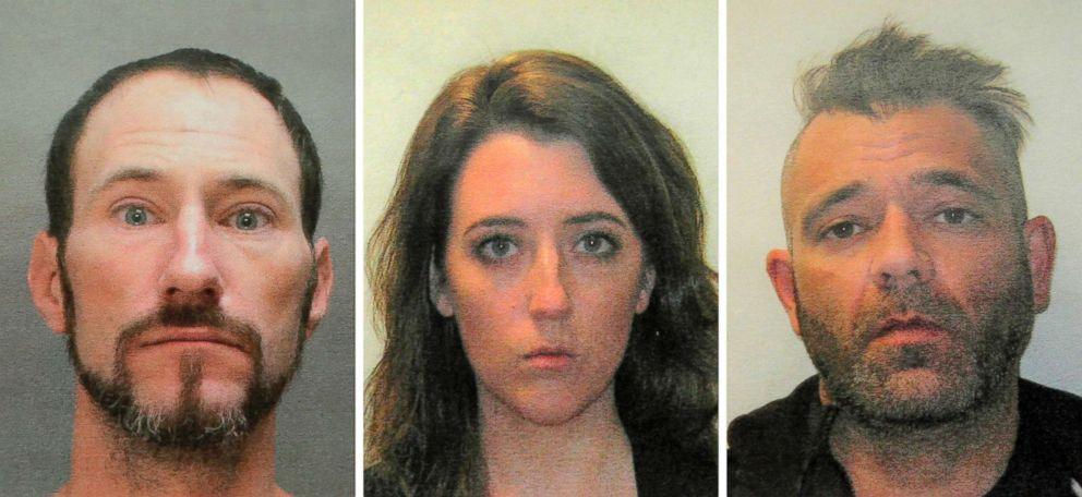 PHOTO: This November 2018 combination of photos provided by the Burlington County Prosecutors office shows Johnny Bobbitt, from left, Katelyn McClure and Mark DAmico.