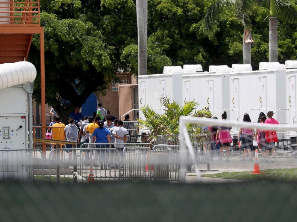 PHOTO: The Homestead Temporary Shelter for Unaccompanied Children on June 19, 2018 in Homestead, Fla.