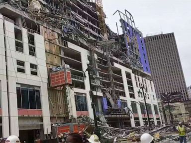 1 person killed, 18 sent to hospital after hotel partially collapses