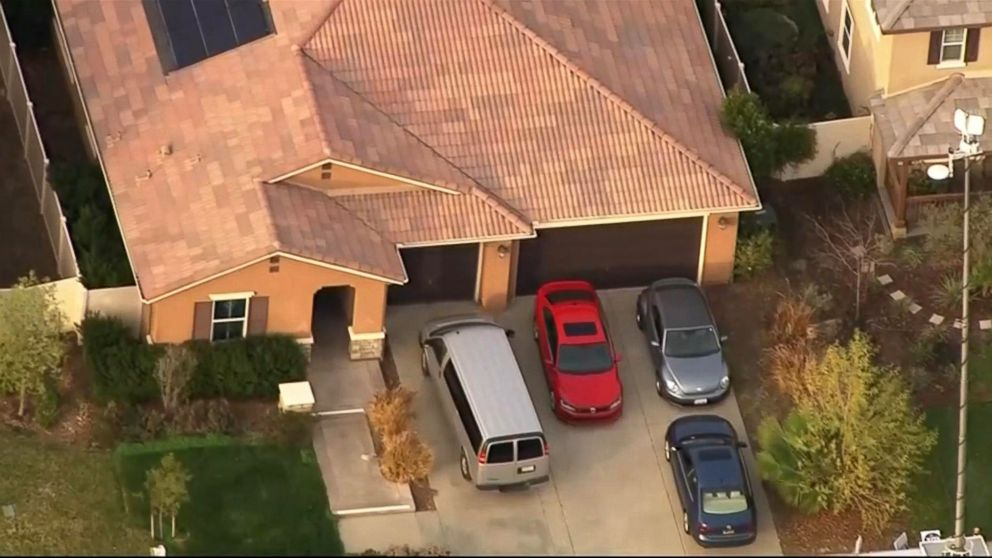 An investigation is underway in Perris, Calif., after 13 siblings ages 2 to 29 were allegedly held captive in a home, some shackled to their beds with chains and padlocks, authorities said.