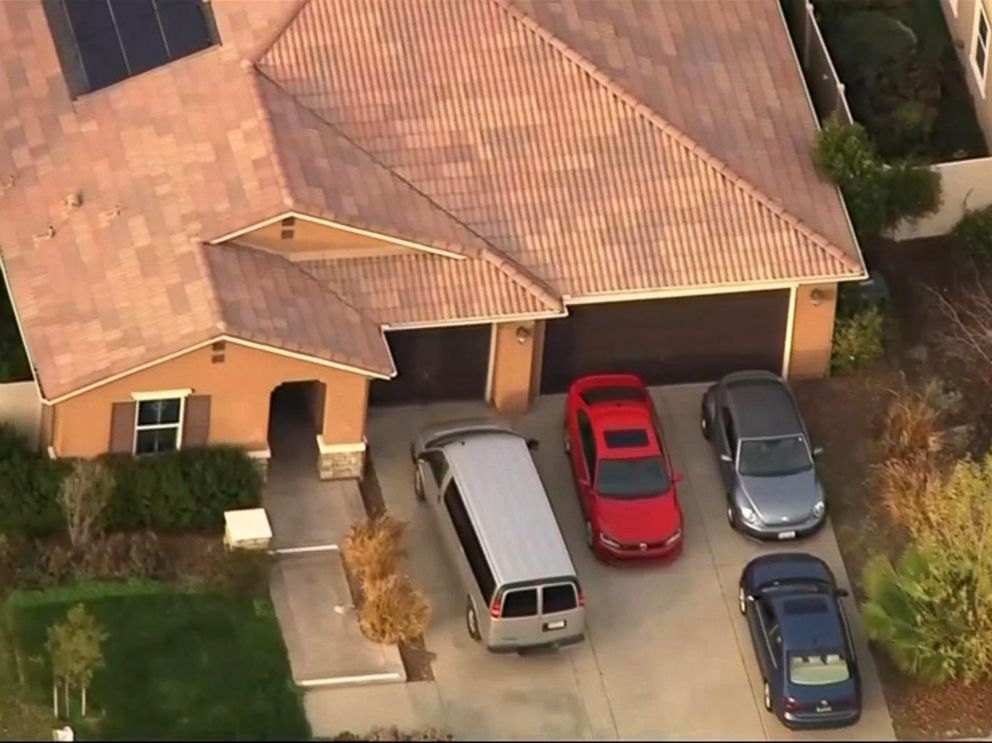 PHOTO: An investigation is underway in Perris, Calif., after siblings were allegedly held captive in a home, some shackled to their beds with chains and padlocks, authorities said.