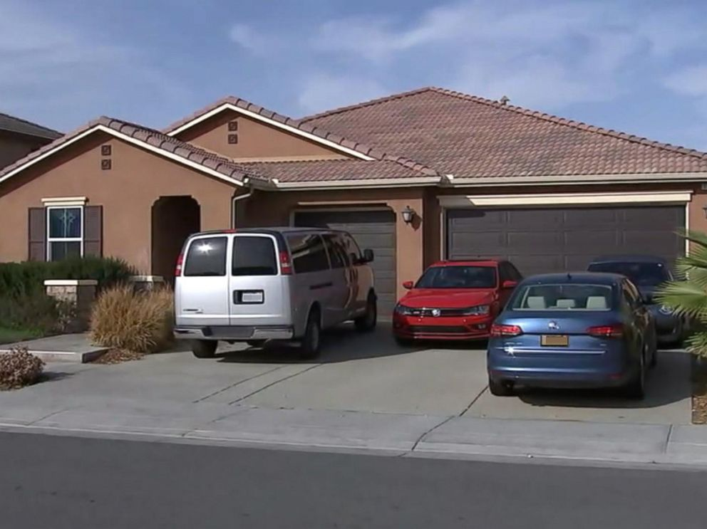 PHOTO: An investigation is underway in Perris, Calif., after 13 siblings ages 2 to 29 were allegedly held captive in a home, some shackled to their beds with chains and padlocks, authorities said.