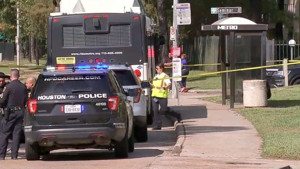 Video shows gunman shoot two men in front of Houston bus