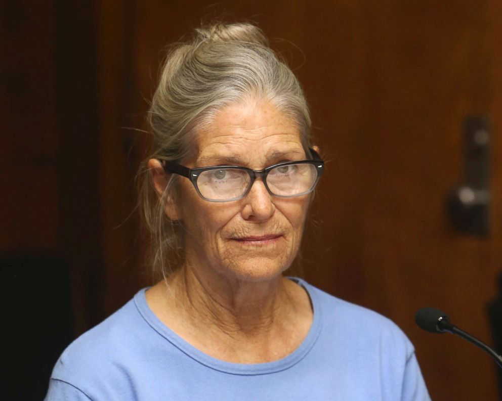 PHOTO: Leslie Van Houten at her parole hearing at the California Institution for Women in Corona, Calif., Sept. 6, 2017.