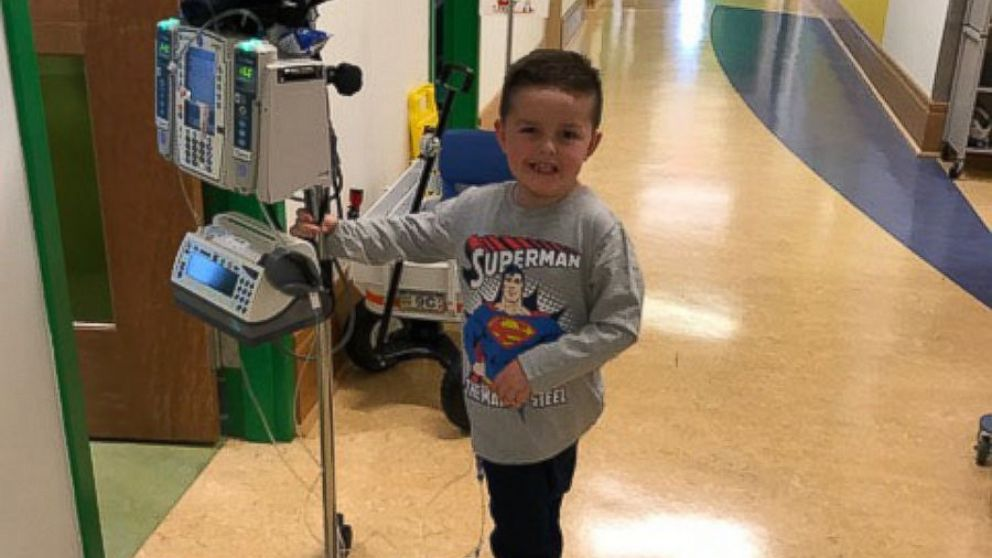 Jimmy Spagnolo has undergone treatment for a glioma or tumor of the brain or spine since he was 4 months old. He's now 6 and a first grader in Pittsburgh.