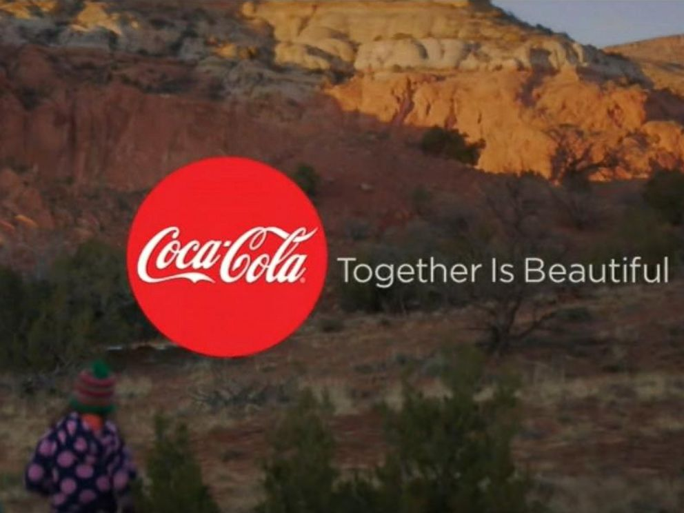 PHOTO: The soft drink companys ad featured America the Beautiful in multiple languages.