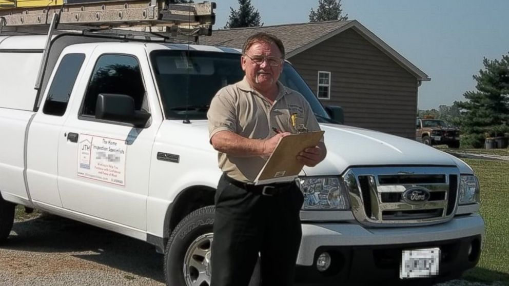 James Hodgkins of Belleville, Ill., is pictured in photo posted to the JTH Inspections page on Yelp on Nov. 7, 2013.