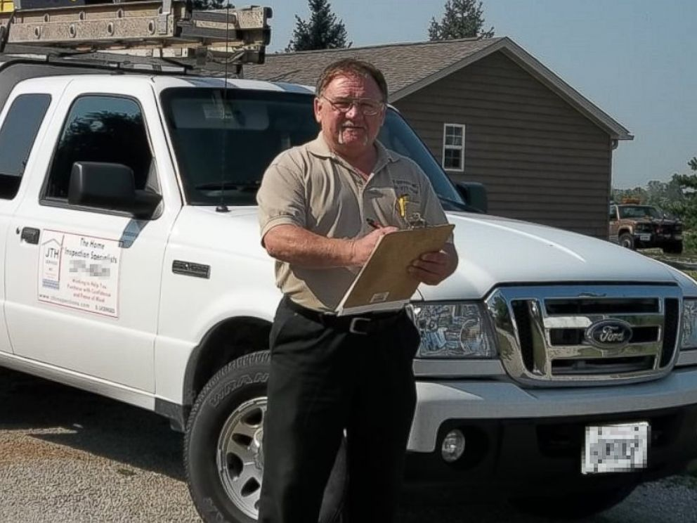 PHOTO: James Hodgkins of Belleville, Ill., is pictured in photo posted to the JTH Inspections page on Yelp on Nov. 7, 2013.