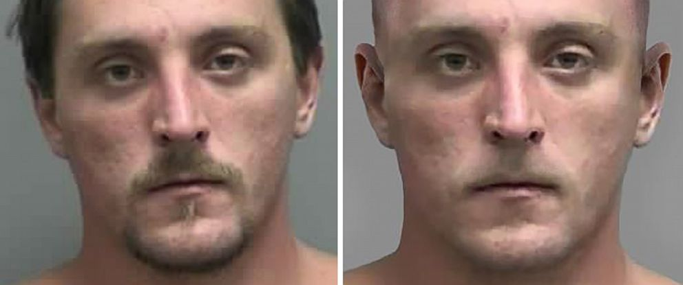 PHOTO: Fugitive Joseph Jakubowski, 32, is pictured in an undated handout image, left, and a digitally altered image released by authorities on April 11, 2017, right.