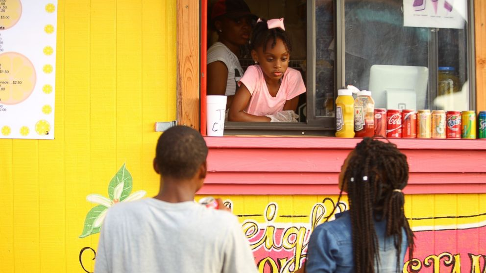 Kyleigh McGee, 7, runs her own mobile food truck in Little Rock, Ark.