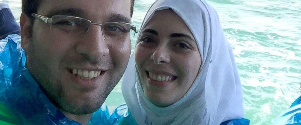 PHOTO: Muhamad Moustafa and his wife Nabila.