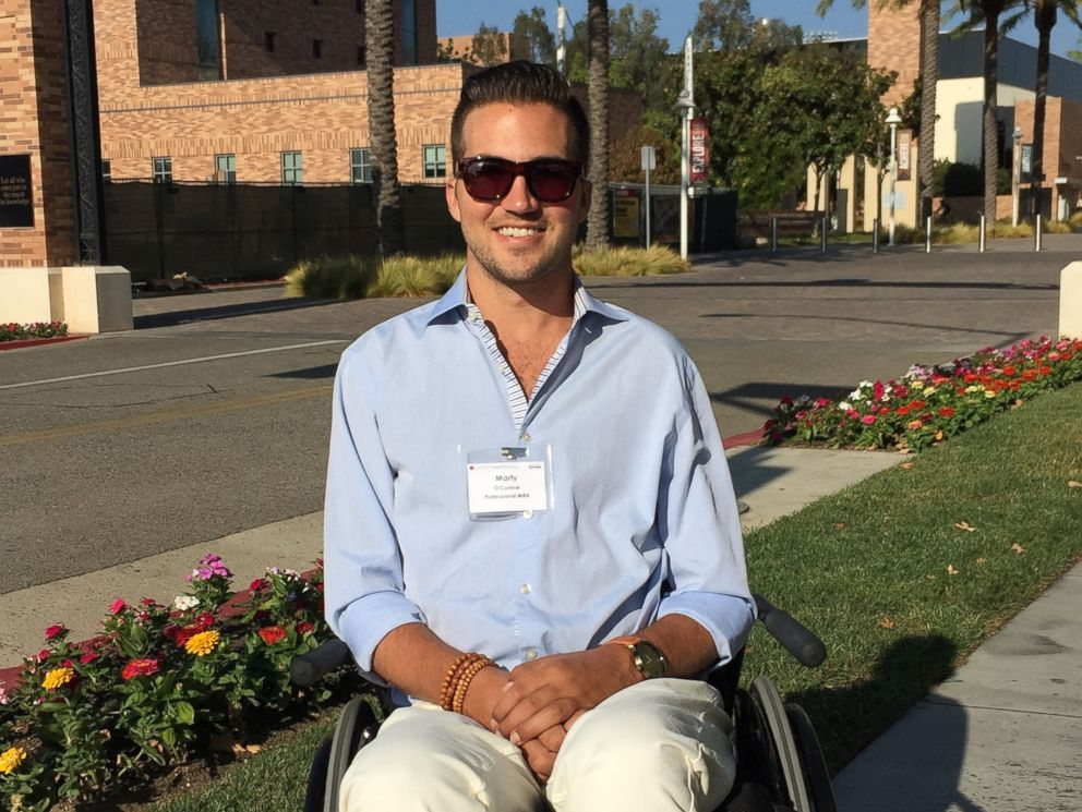 PHOTO: Marty OConnor, 29, received his MBA from Chapman University.