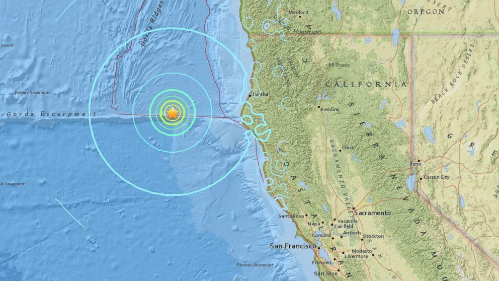 6 5 Magnitude Earthquake Recorded Off The Coast Of California Abc News