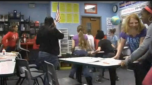 "PHOTO: A frame-grab from ""ALiCE Training Video-Middle School Students"" shows Cinema Group students at Lange Middle School in Columbia MO, who created a cool video for Violent Intruder Training using the ALiCE program."