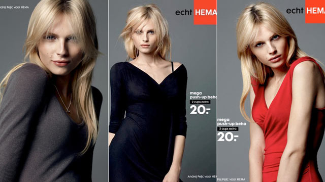 PHOTO: Andrej Pejic, a male model known for his gender-bending work on runways, is the star of Dutch fashion company Hemas newest lingerie ad campaign.