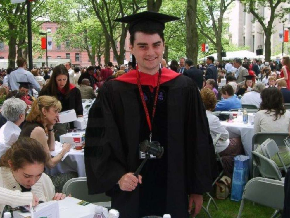 Ben Shapiro is seen here at graduation from Harvard Law School in this 2007 family photo.