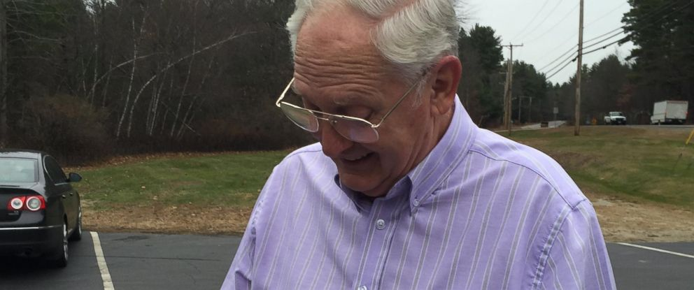 PHOTO: Vietnam veteran Don Winterhalter was reunited with his lost dog tags on Nov. 19, 2015 in Brookline, N.H.
