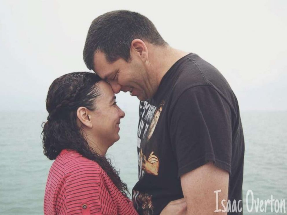 PHOTO: Hannah Overton recently reunited with her husband, Larry Overton, since being released on bond last week.