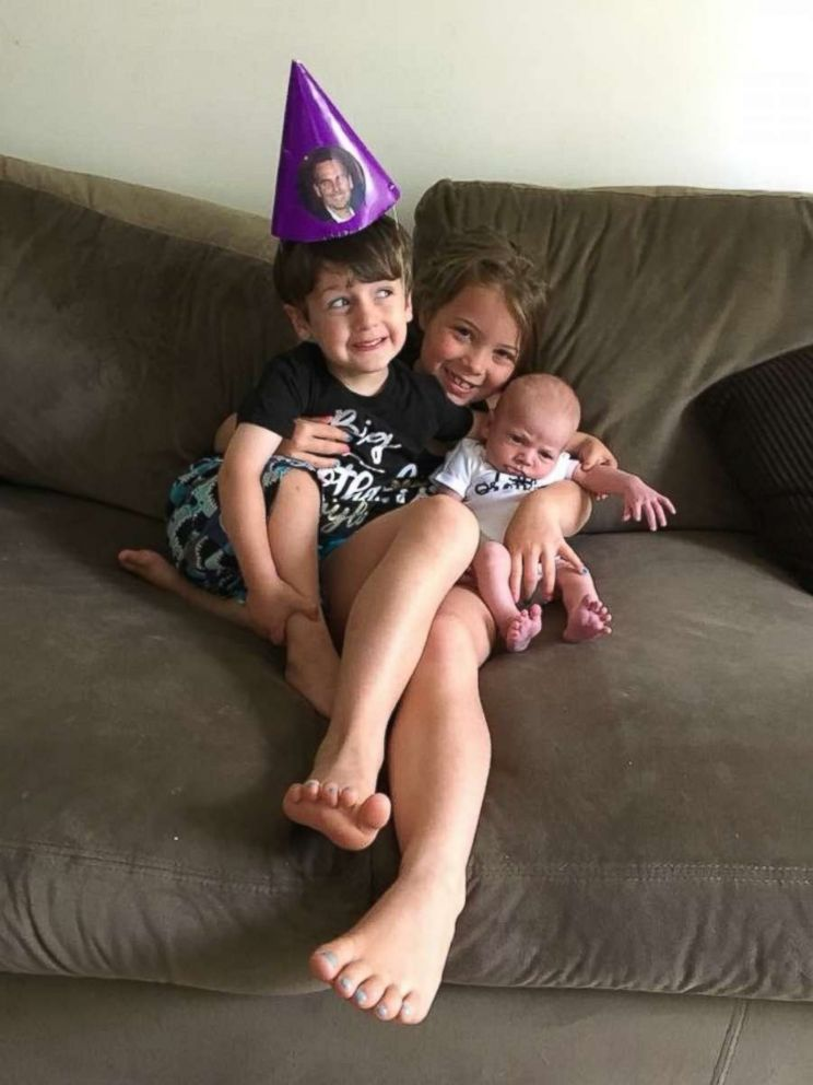 Kayden Mancuso is seen here with two younger half-brothers in this family photo.