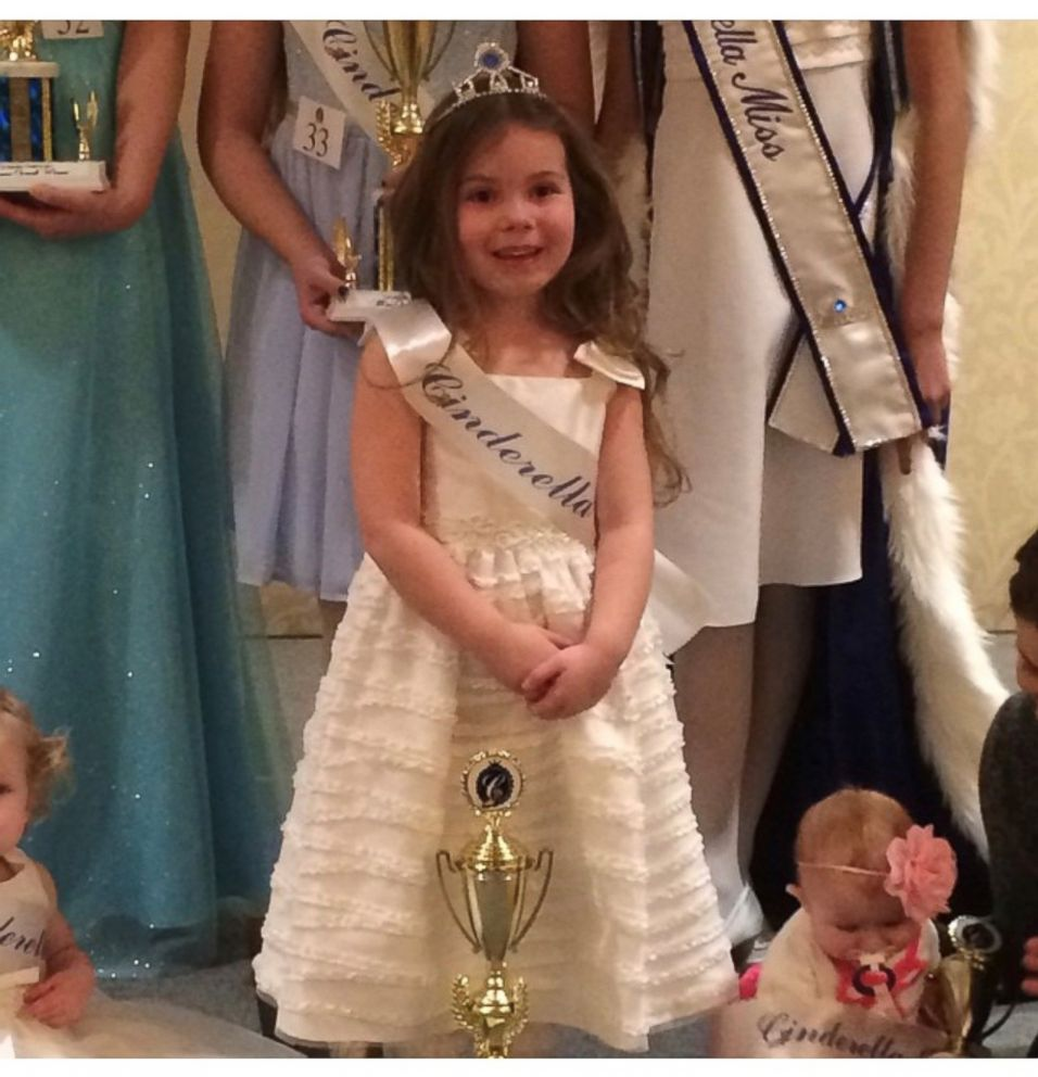 Kayden Mancuso is seen here after winning a Cinderella pageant.