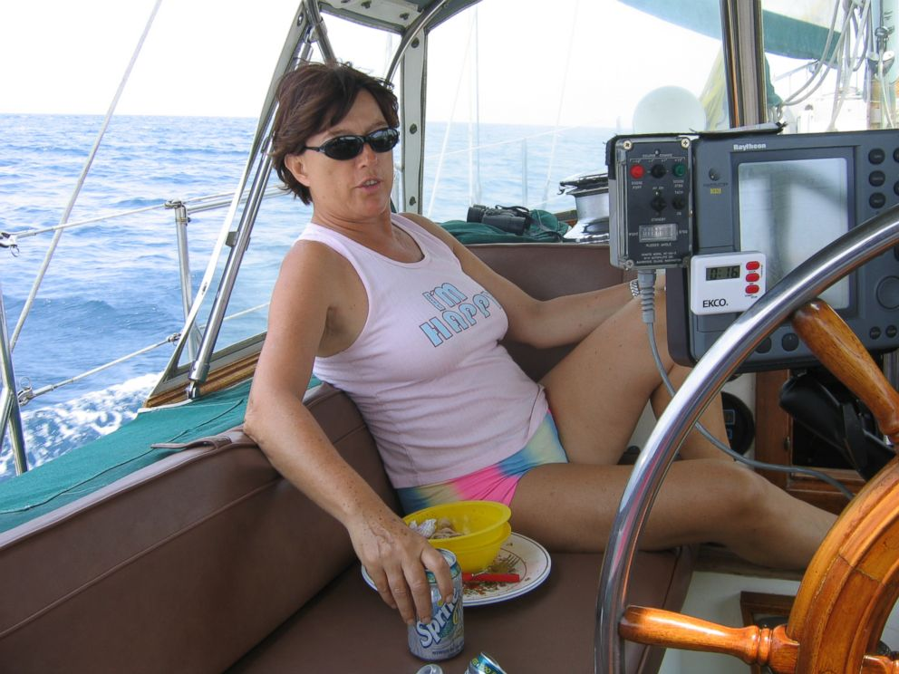 PHOTO: Sylvia Nash sails off the coast of Central America in 2005.
