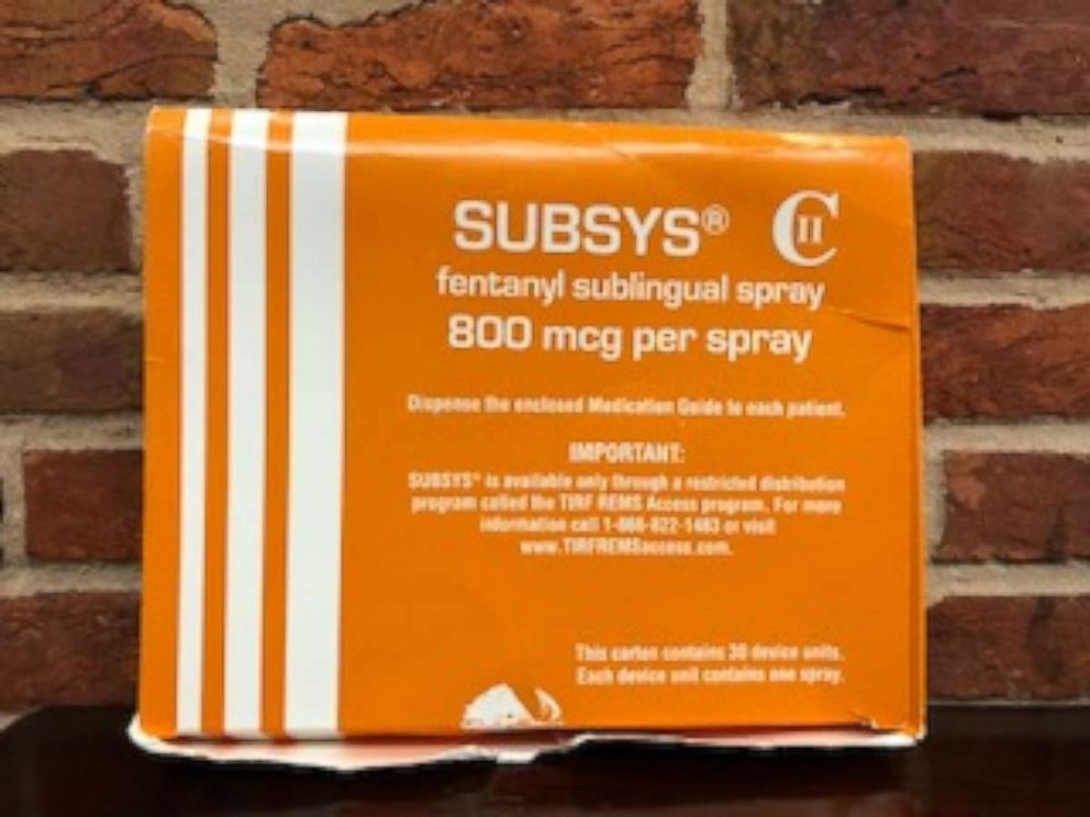 Jeffrey Buchalter said he received his SUBSYS prescription in this box.