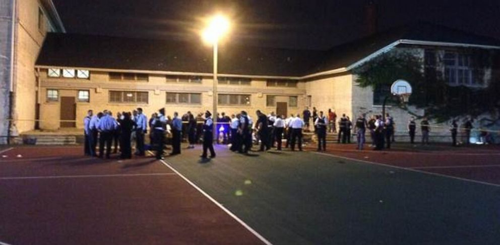 Eleven people, including a 3-year-old child, were shot at a basketball court in Chicago on Sept. 19, 2013, according to fire officials.
