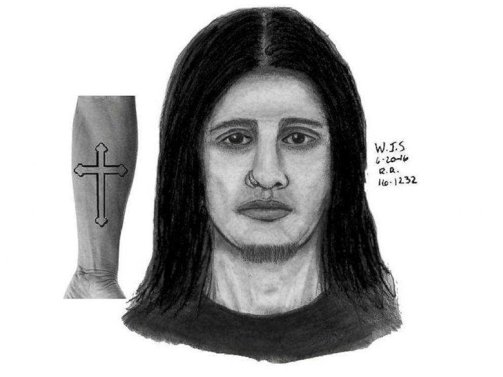 PHOTO: The Rocky River Police Department have released this composite sketch of the suspect accused of holding a clergy member at St. Christopher Parish in Rocky River Ohio at gunpoint during confession on June 11, 2016.