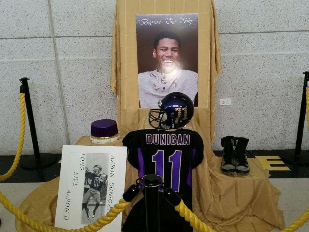 PHOTO: Aaron Dunigan, 18, a high school football star, was killed just days before his graduation.