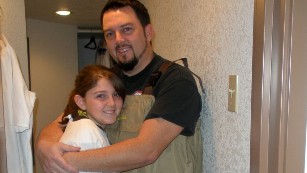 Brian Jennings, pictured with his daughter Abby Jennings, was killed after stopping to help a stranded motorist.