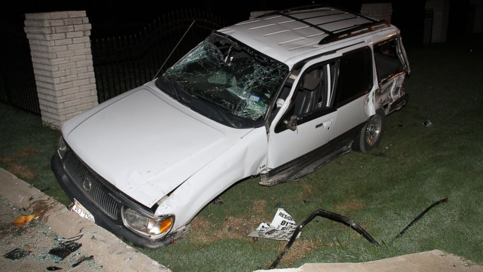 <p>The Boyles family had just finished watching a movie when this car crashed outside of their house. The driver of this car was later killed after a fatal crash caused by Ethan Couch.</p>