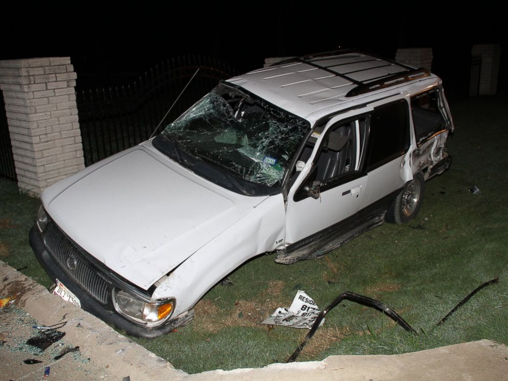 PHOTO: The Boyles family had just finished watching a movie when this car crashed outside of their house. The driver of this car was later killed after a fatal crash caused by Ethan Couch.
