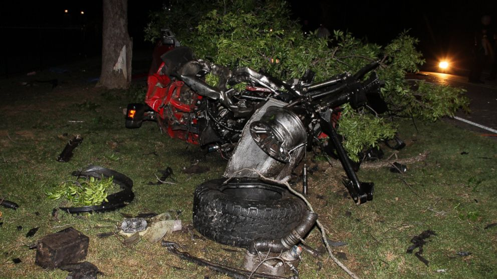 The pick-up truck Ethan Couch was driving is pictured here after the accident that left four people dead.