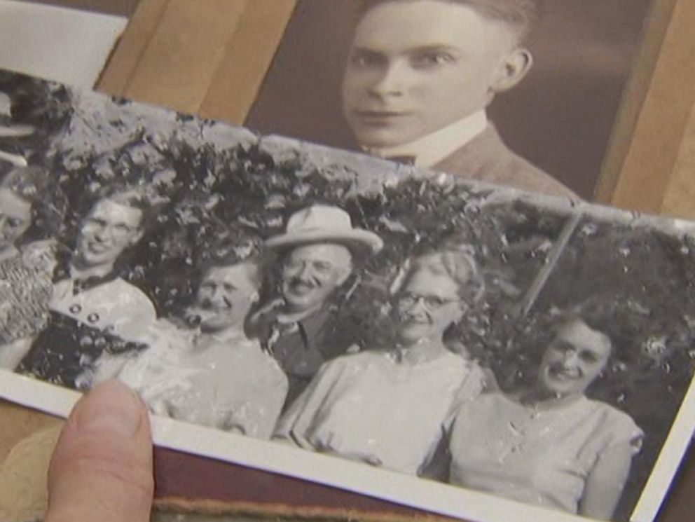PHOTO: Alan Kirkwood found a collection of old photographs and newspapers in Beavercreak, Ore.