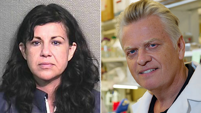 PHOTO: Ana Trujillo, left, faces a murder charge after she allegedly stabbed a man with a stiletto heel in Houston.