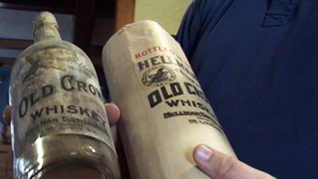 PHOTO: Antique whiskey bottles