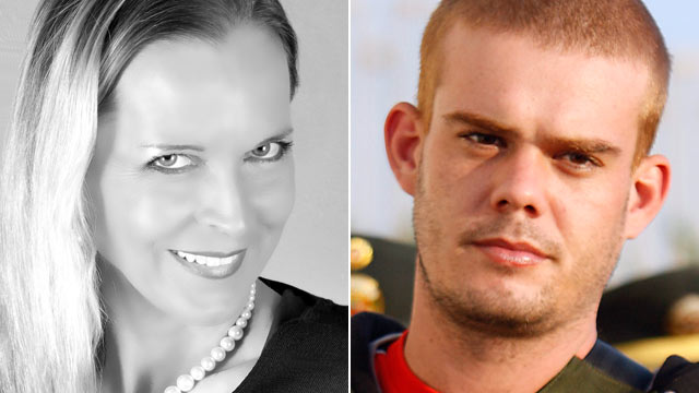 PHOTO: Mary Hamer, 55, left, has befriended notorious killer Joran Van Der Sloot, killer of Natalee Holloway and Peruvian woman Stephany Flores.