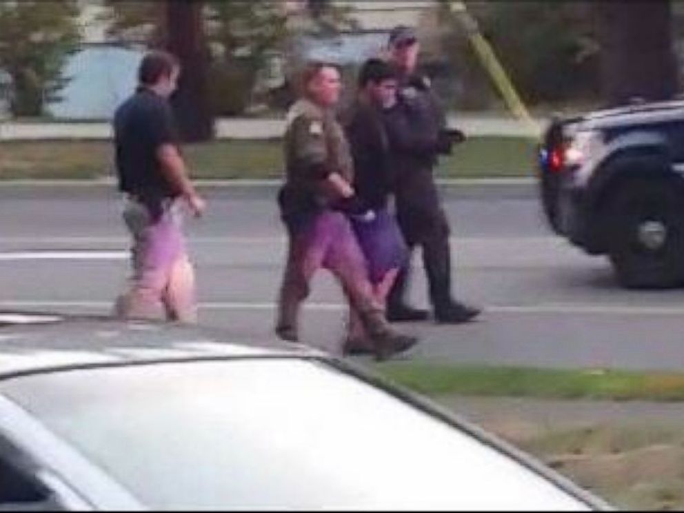 PHOTO: Police take Arcan Cetin into custody in Oak Harbor, Washington, on September 24, 2016. He is the suspected gunman who fatally shot five people at a Macys in Burlington, Washington, on September 25, 2016.