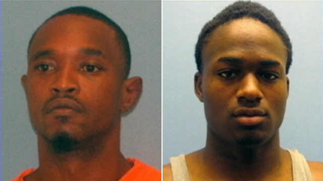 PHOTO: Quincy Vernard Stewart, 36, left, and Cortez Rashod Hooper, 23, escaped from Miller County Jail in Arkansas Monday morning and are on the lam from authorities.